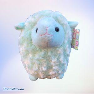 """Chubby Plush Lamb Sheep Mint Green 10"""" Stuffed Toy"""